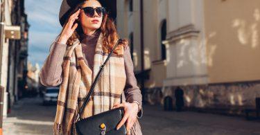 Street,Female,Fashion.,Portrait,Of,Stylish,Young,Woman,Wearing,Hat