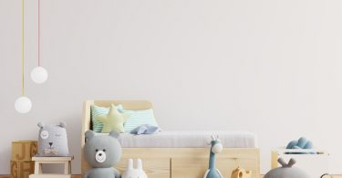 Mock,Up,Wall,In,The,Children's,Room,In,White,Wall